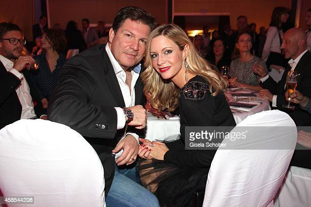 Francis Fulton Smith and his wife Verena Klein attend the Cotton Club Dinnershow Premiere at Ungerer Bad on November 6 2014 in Munich Germany