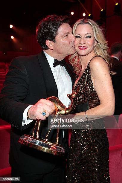 Francis Fulton Smith and his wife Verena Klein during the Bambi Awards 2014 show on November 13 2014 in Berlin Germany