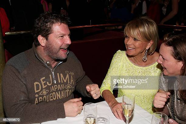 Francis Fulton Smith and Uschi Glas attend the Bild 'Place to B' Party at Borchardt Restaurant on February 7 2015 in Berlin Germany