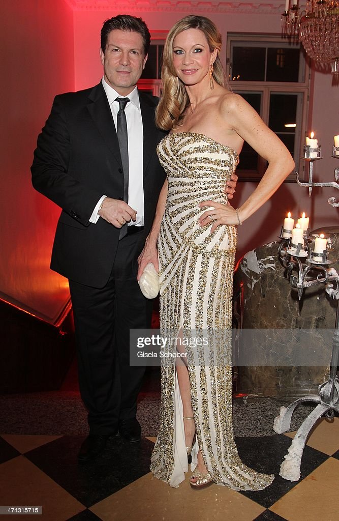 Francis Fulton Smith and wife Verena Klein attend the Dresswestern party (by Dresscoded and Ingolstadt Village) at Rilano No 6 on February 22, 2014 in Munich, Germany.