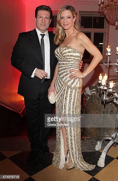 Francis Fulton Smith and wife Verena Klein attend the Dresswestern party at Rilano No 6 on February 22 2014 in Munich Germany