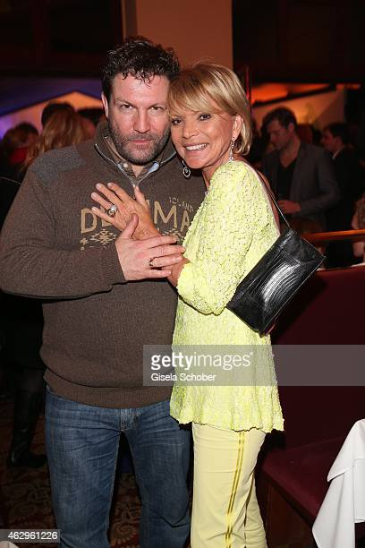 Francis Fulton Smith Uschi Glas during the Bild 'Place to B' Party at Borchardt Restaurant on February 7 2015 in Berlin Germany