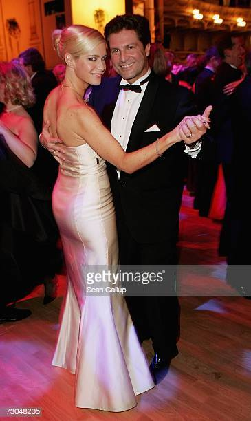Francis FultonSmith and his wife Verena Klein attend the 2nd annual Semper Opera Ball January 19 2007 in Dresden Germany