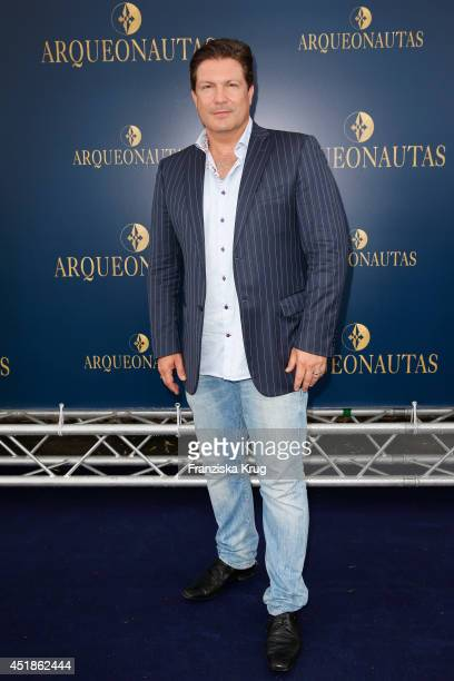 Francis FultonSmith attends the Arqueonautas Presents Kevin Costner Music Meets Fashion at Spindler Klatt on July 08 2014 in Berlin Germany