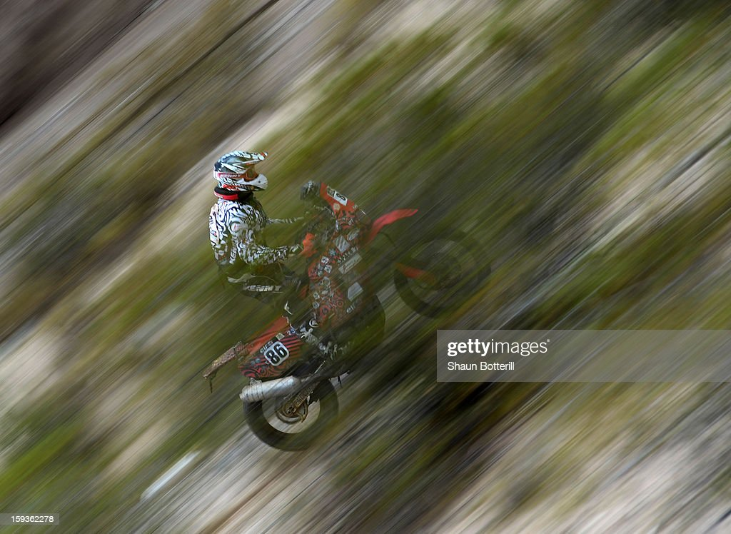 Francis Gadioux of Team Adventures competes in Stage 8 from Salta to Tucuman during the 2013 Dakar Rally on January 12, 2012 in Salta, Argentina.