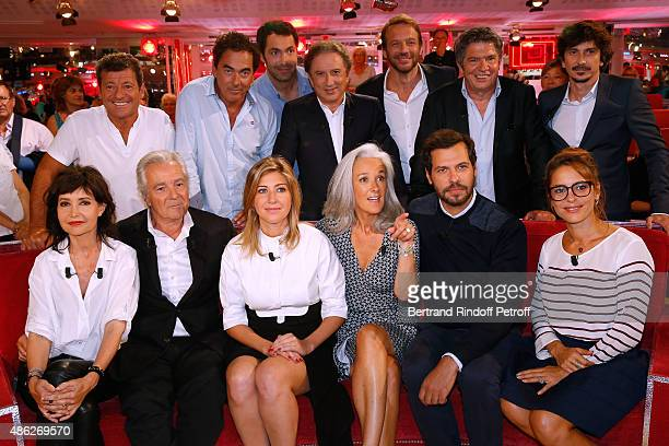 Francis Ginibre Eric Carriere Ben Michel Drucker Samuel Le Bihan Lionel Astier Arnaud Tsamere Main guests of the show Actors Pierre Arditi and his...