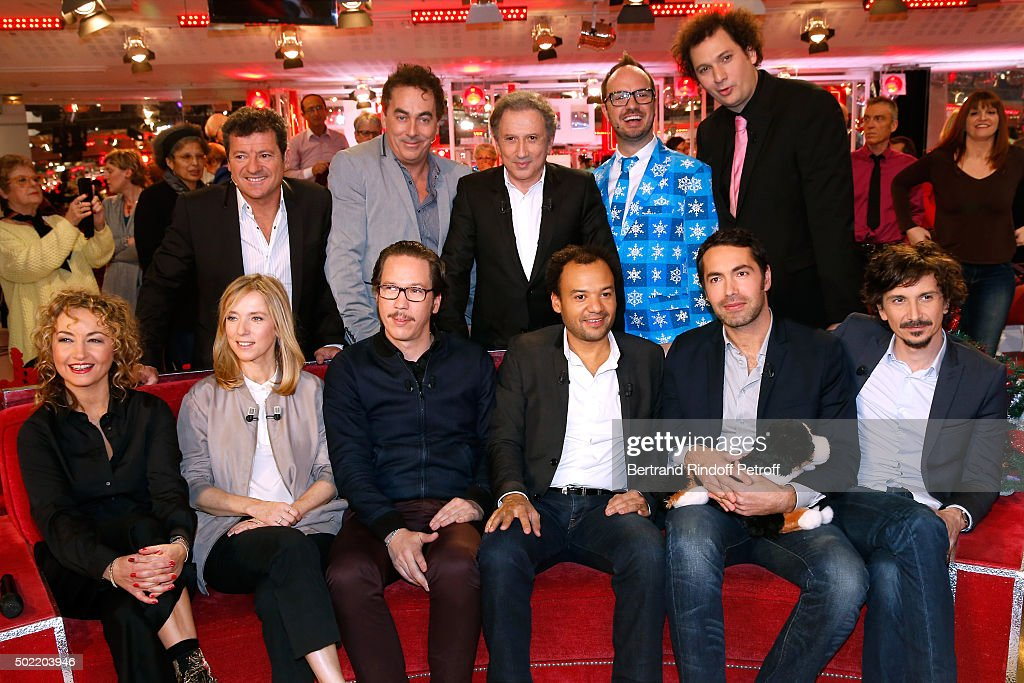Francis Ginibre Eric Carriere Michel Drucker Jarry Eric Antoine Maryse Wolinski Lea Drucker Reda Kateb Fabrice Eboue Ben and Arnaud Tsamere attend...