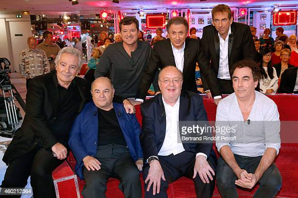 Francis Ginibre Michel Drucker Thierry Garcia Pierre Arditi Jean Benguigui Bernard Mabille and Eric Carriere attend the 'Vivement Dimanche' French TV...