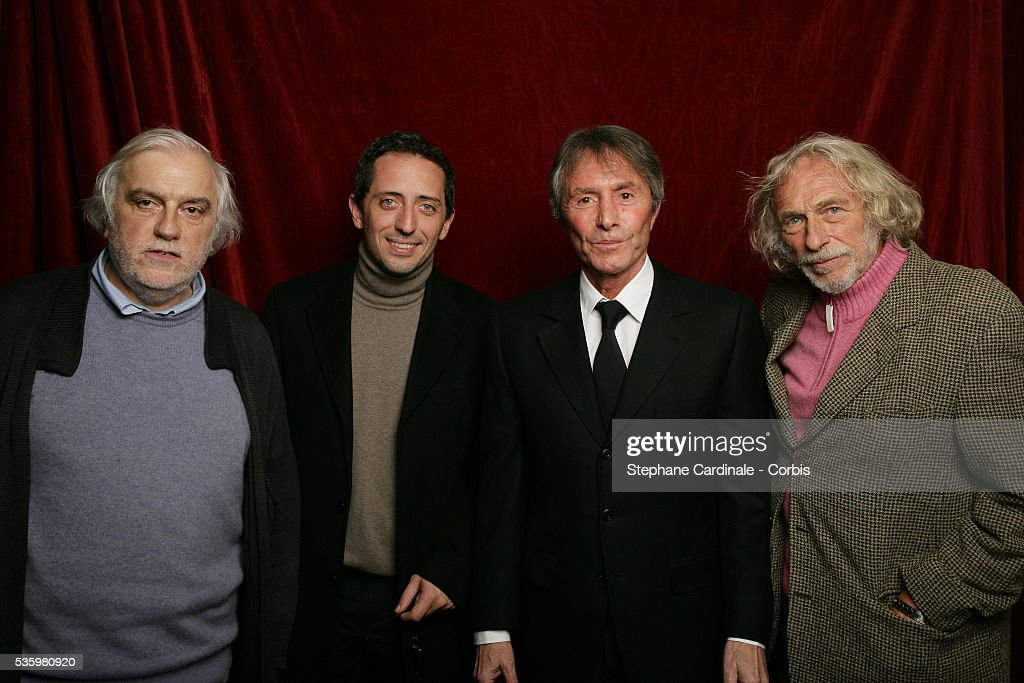 Francis Girod, Gad Elmaleh, Francis Veber and Pierre Richard at the 'Henri Jeanson' prize ceremony.