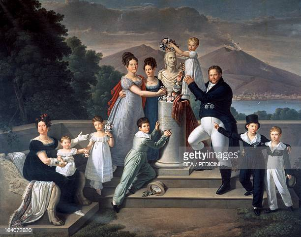 Francis I of the Two Sicilies King of the Two Sicilies and his family a tribute to the father of Francis Ferdinand I to the sixtyninth birthday oil...