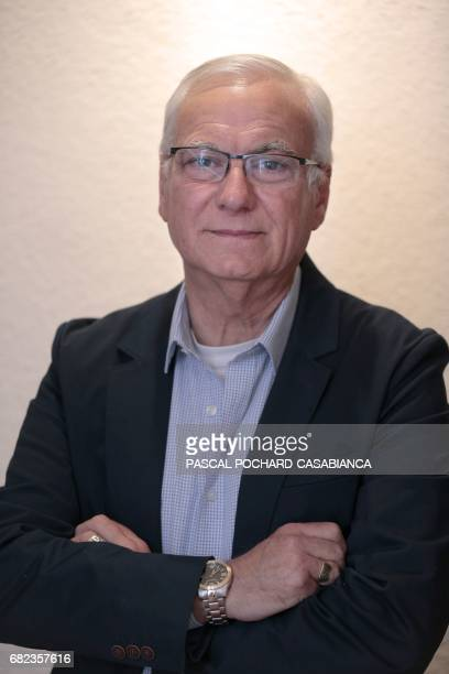 Francis Nadizi candidate for the farright National Front party for the upcoming parliamentary elections poses in his office in Ajaccio on the French...