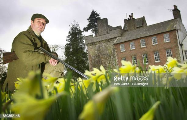 Francis Patrick Maxwell who lost money in the Lloyds insurance affair pictured in front of Kirkconnell House near Dumfries Mr Maxwell is having to...