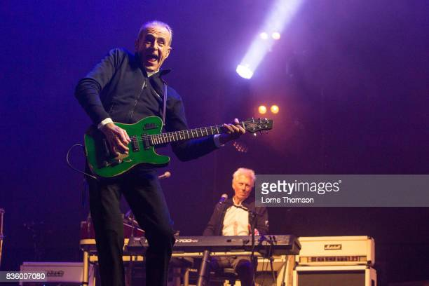 Francis Rossi and Andrew Brown of Status Quo perform at Rewind Festival on August 20 2017 in HenleyonThames England
