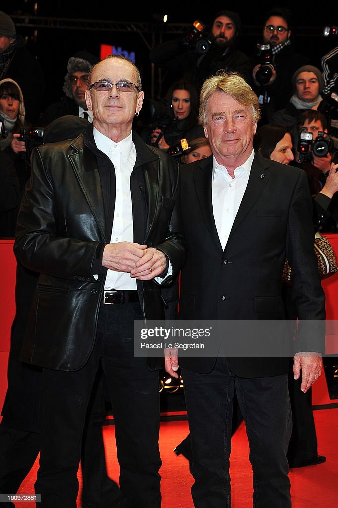 Francis Rossi (L) and Rick Parfitt attend 'Promised Land' Premiere during the 63rd Berlinale International Film Festival at Berlinale Palast on February 8, 2013 in Berlin, Germany.