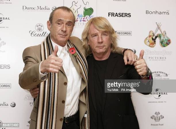 Francis Rossi and Rick Parfitt of Status Quo at the release of their album 'Pictures40 Years of Hits' with an auction in aid of The Prince's Trust at...