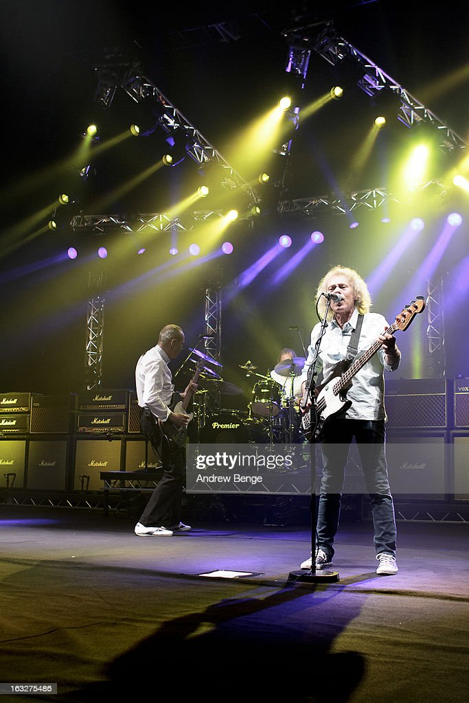<a gi-track='captionPersonalityLinkClicked' href=/galleries/search?phrase=Francis+Rossi&family=editorial&specificpeople=243185 ng-click='$event.stopPropagation()'>Francis Rossi</a>, Matt Letley and Alan Lancaster of Status Quo performs on stage in concert at Manchester Apollo on March 6, 2013 in Manchester, England.