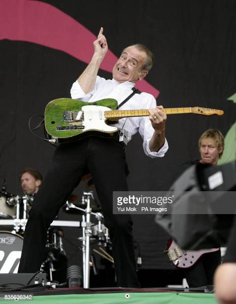 Francis Rossi of Status Quo performing during the 2009 Glastonbury Festival at Worthy Farm in Pilton Somerset