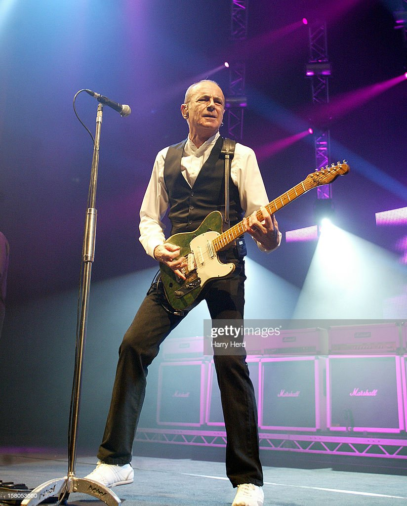 Francis Rossi of Status Quo performs at Quofestive at BIC on December 9, 2012 in Bournemouth, England.