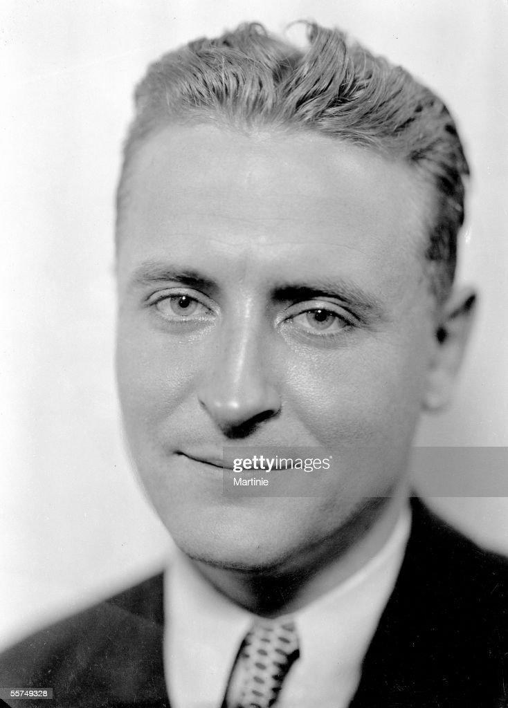 Francis Scott Fitzgerald (1896-1940), American novelist, in Paris, about 1930.
