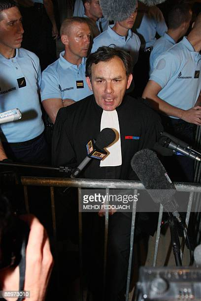 Francis Szpiner lawyer of the family of Ilan Halimi speaks to the press on July 10 2009 in Paris after Youssouf Fofana was sentenced to life in...