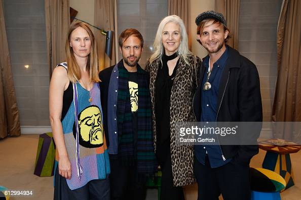 Francis Upritchard Peter Pilotto Ruth Chapman and Christopher De Vos attend Peter Piloto Francis Upritchard in partnership with American Express at...