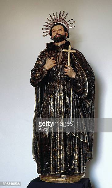 Francis Xavier Basque Roman Catholic missionary into Asia Jesuit Statue Pamplena Cathedral Navarre Spain
