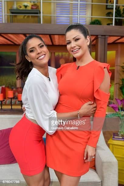 Francisca Lachapel and Ana Patricia attends the Univision's 'Despierta America' on May 2 2017 in Miami Florida