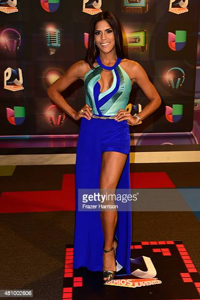 Francisca Lachapel attends Univision's Premios Juventud 2015 at Bank United Center on July 16 2015 in Miami Florida