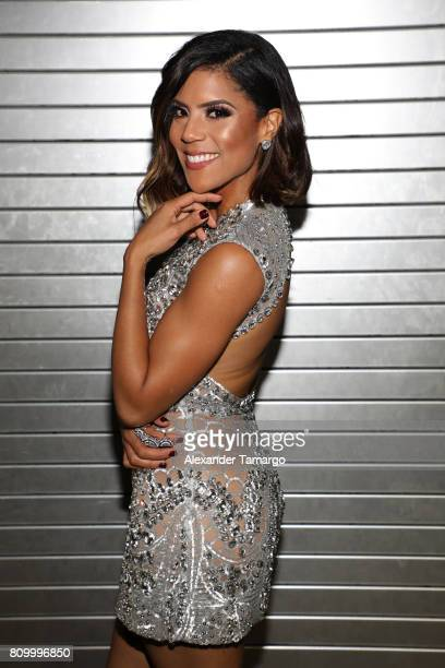 Francisca Lachapel is seen backstage during Univision's 'Premios Juventud' 2017 Celebrates The Hottest Musical Artists And Young Latinos ChangeMakers...