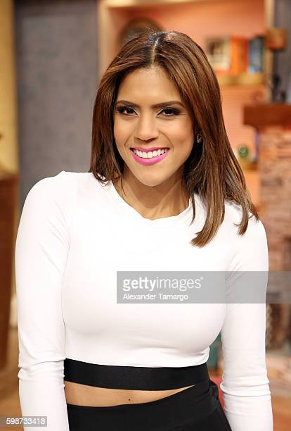 Francisca Lachapel is seen on the set of 'Despierta America' at Univision Studios on September 2 2016 in Miami Florida