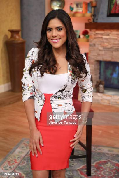 Francisca Lachapel is seen on the set of 'Despierta America' at Univision Studios on March 9 2017 in Miami Florida