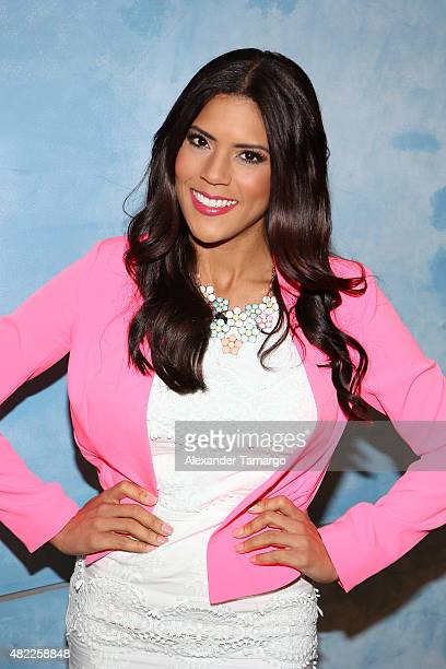 Francisca Lachapel is seen on the set of 'Despierta America' at Univision Studios on July 29 2015 in Miami Florida