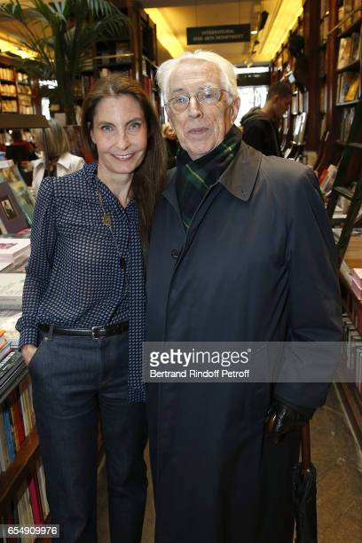 Francisca Matteoli and Father Gilibert attend Bertrand Matteoli Signing Book 'Bien Dans Sa Peau' at Librairie Galignali on March 18 2017 in Paris...