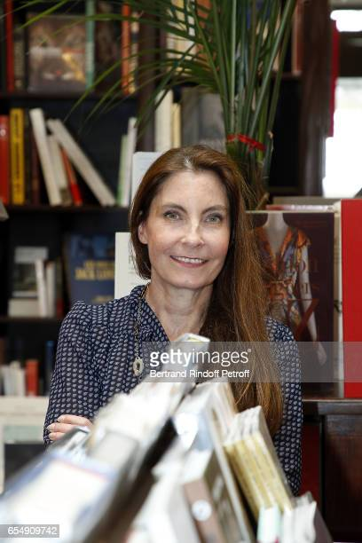 Francisca Matteoli attends Bertrand Matteoli Signing Book 'Bien Dans Sa Peau' at Librairie Galignali on March 18 2017 in Paris France