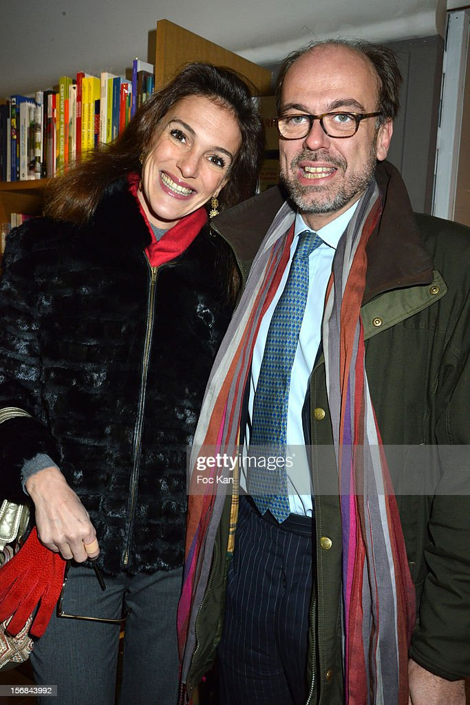 Francisca Suarez and Emmanuel de Rohan Chabot attend 'Home' India Madhavi and Soline Delos Book Launch at Musee Arts Decoratifs Bookshop on November 22, 2012 in Paris, France.