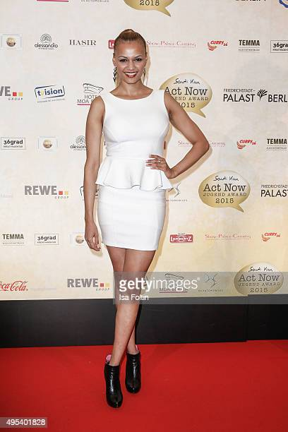 Francisca Urio attends the 1st Act Now Jugend Award at FriedrichstadtPalast on November 2 2015 in Berlin Germany