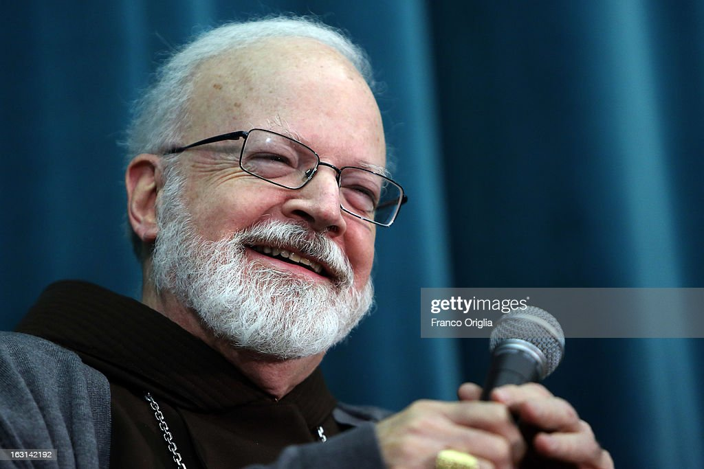 Franciscan archbischop of Boston cardinal Sean O'Malley smiles during a meeting with accreditated media at Vatican at the Pontifical North American College on March 5, 2013 in Vatican City, Vatican.