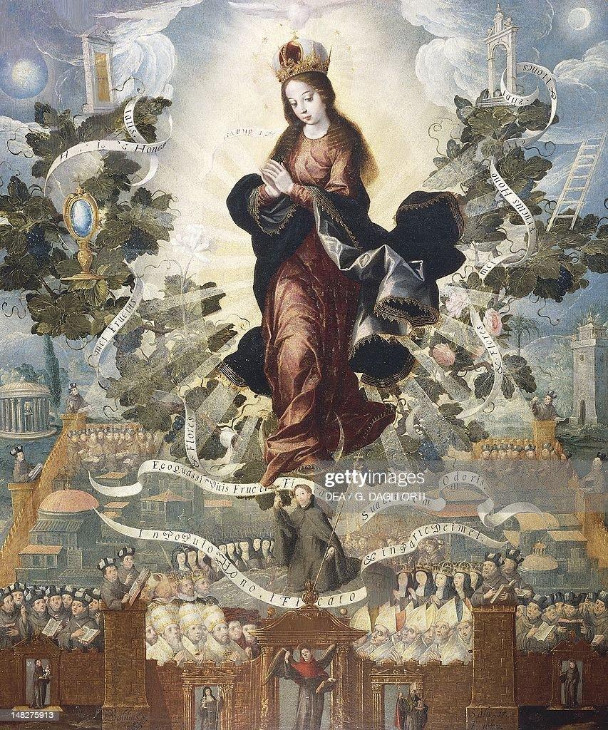 Franciscan Exaltation of the Immaculate Conception Basilio de Salazar oil on canvas 118x100 cm Queretaro Museo Regional De Queretaro