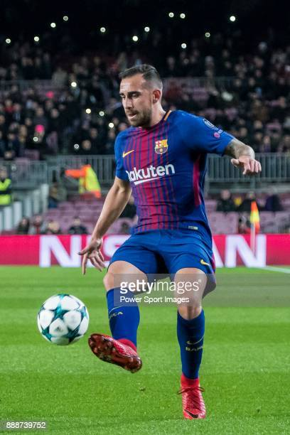 Francisco Alcacer Garcia Paco Alcacer of FC Barcelona in action during the UEFA Champions League 201718 match between FC Barcelona and Sporting CP at...