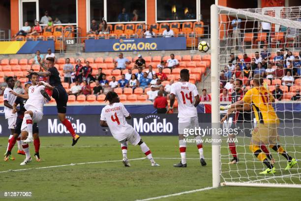 Francisco Calvo of Costa Rica scores a goal to make the score 11 during the 2017 CONCACAF Gold Cup Group A match between Costa Rica and Canada at...