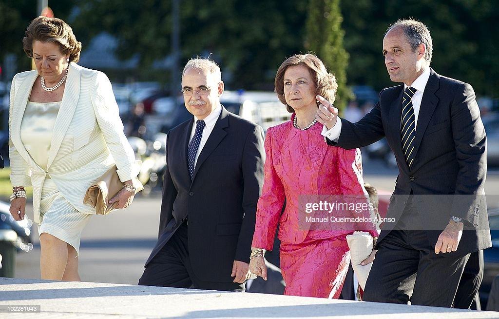 Spanish Queen Sofia Attends the Opera Play 'Carmen' In Valencia