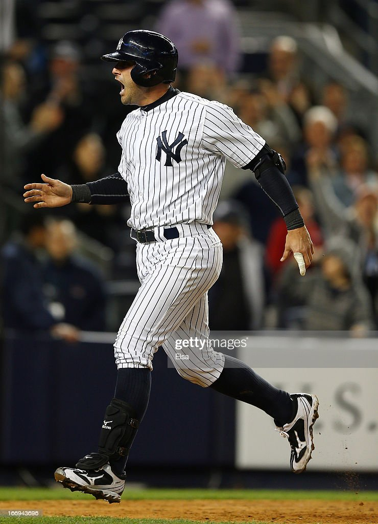<a gi-track='captionPersonalityLinkClicked' href=/galleries/search?phrase=Francisco+Cervelli&family=editorial&specificpeople=4172506 ng-click='$event.stopPropagation()'>Francisco Cervelli</a> #29 of the New York Yankees celebrates his home run against the Arizona Diamondbacks on April 18, 2013 at Yankee Stadium in the Bronx borough of New York City.The Arizona Diamondbacks defeated the New York Yankees 6-2 in 12 innings.