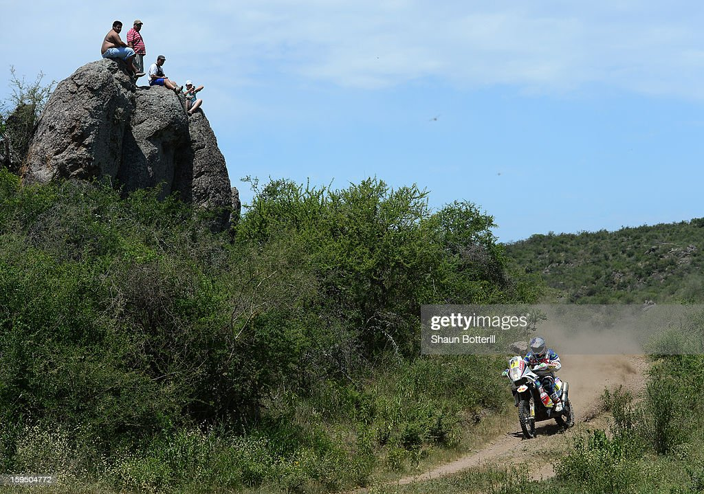 Francisco Chaleco Lopez Contardo of Chile competes in stage 9 from Tucuman to Cordoba during the 2013 Dakar Rally on January 14 in Tucuman, Argentina.