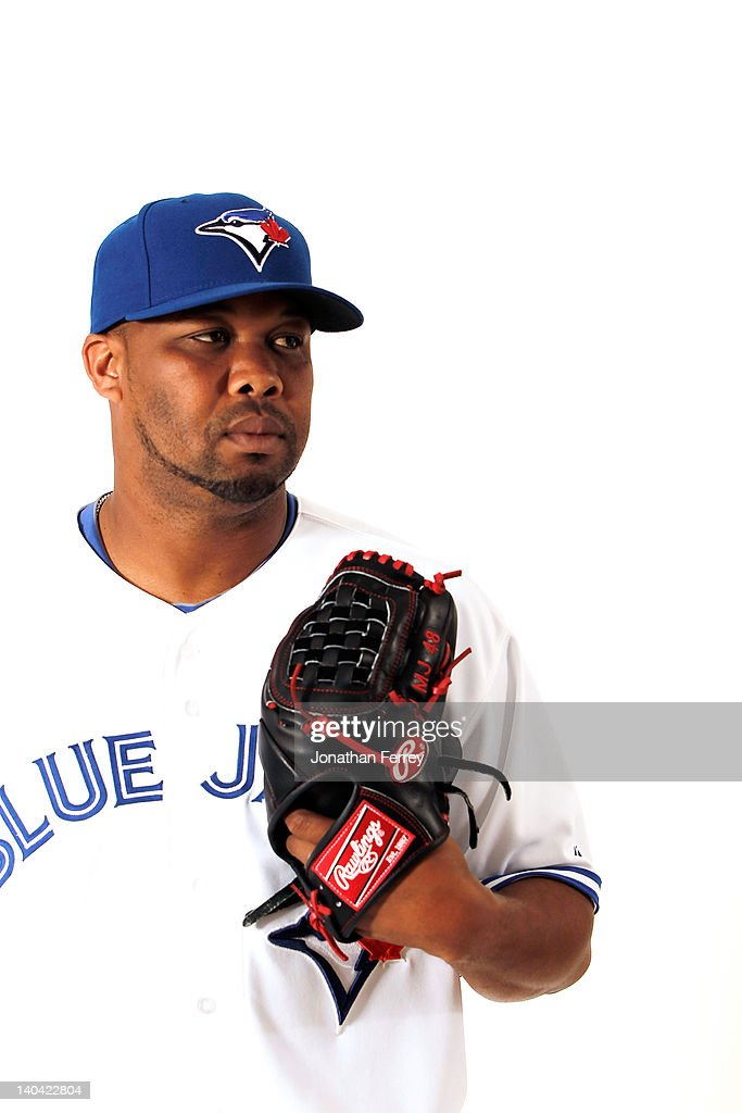 <a gi-track='captionPersonalityLinkClicked' href=/galleries/search?phrase=Francisco+Cordero&family=editorial&specificpeople=209023 ng-click='$event.stopPropagation()'>Francisco Cordero</a> #48 of the Toronto Blue Jays poses for a portrait at Dunedin Stadium on March 2, 2012 in Dunedin, Florida.