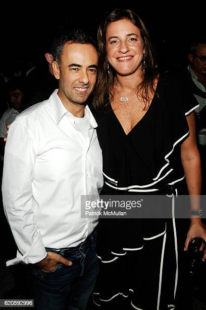 Francisco Costa and Erika Jereissati attend Private Dinner hosted by CARLOS JEREISSATI CEO of IGUATEMI at Pastis on September 6 2008 in New York City