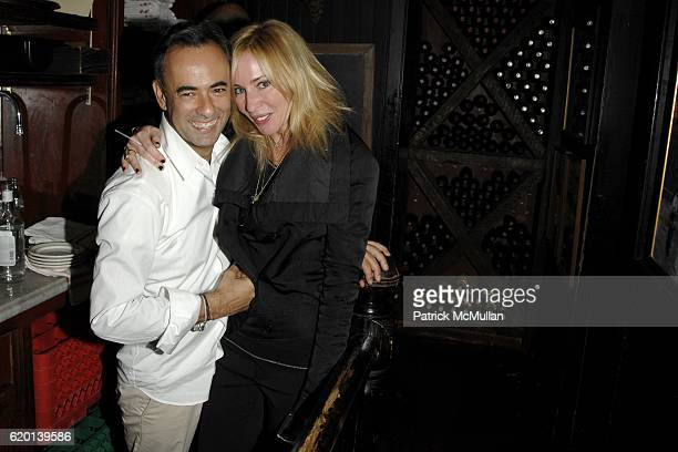 Francisco Costa and Lauryn Flynn attend CALVIN KLEIN COLLECTION Fall 2008 Post Show Dinner at Waverly Inn on February 7 2008 in New York City