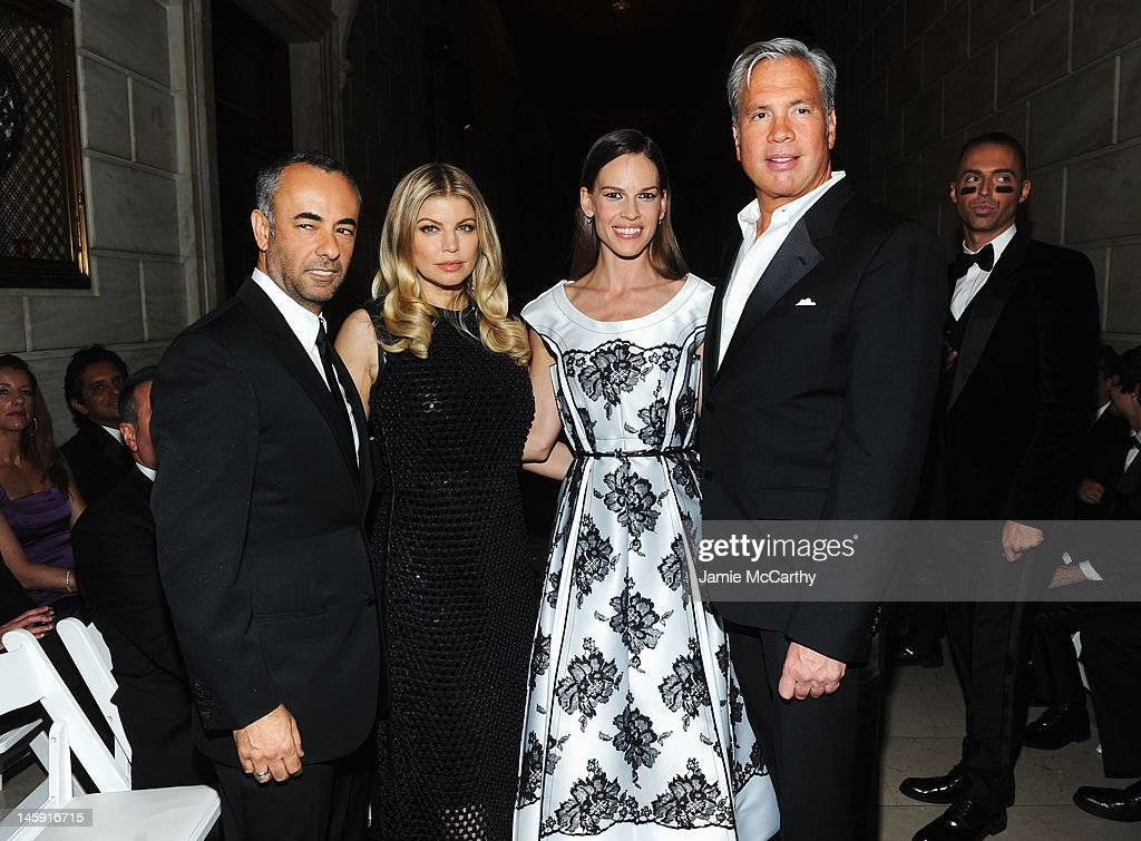 Francisco Costa Fergie, <a gi-track='captionPersonalityLinkClicked' href=/galleries/search?phrase=Hilary+Swank&family=editorial&specificpeople=201692 ng-click='$event.stopPropagation()'>Hilary Swank</a> and Robert Duffy attend the 3rd annual amfAR Inspiration Gala New York at The New York Public Library - Stephen A. Schwarzman Building on June 7, 2012 in New York City.