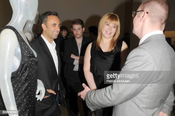 Francisco Costa Kirsten Geiger and Simon Collins attend CALVIN KLEIN COLLECTION Hosts PARSONS Fashion Benefit 2009 PreParty at Calvin Klein...