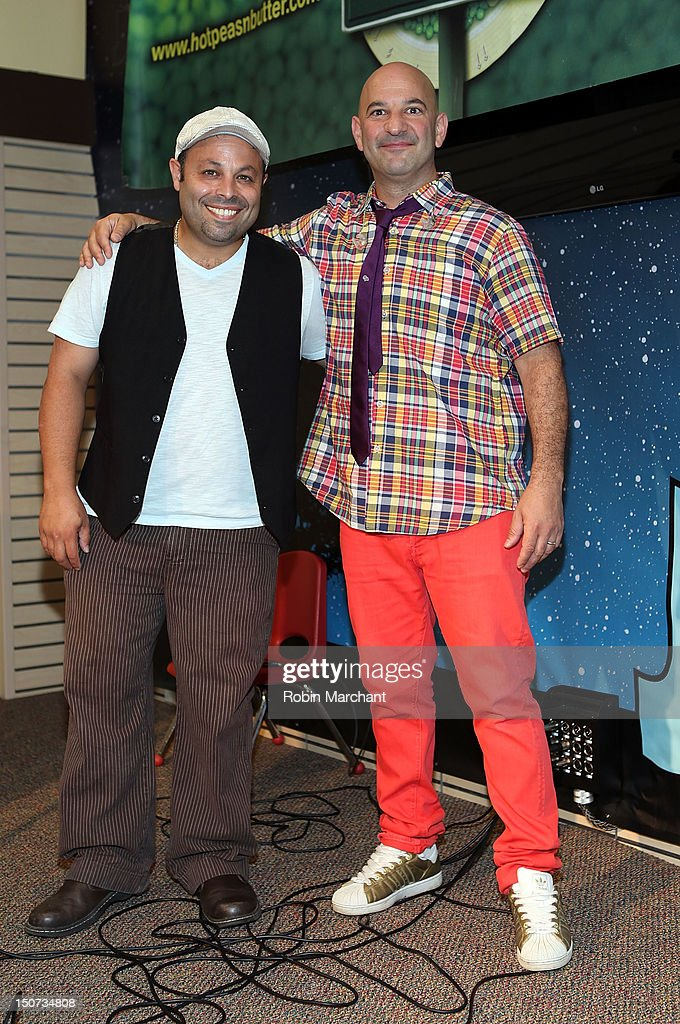 Francisco Cotto (L) and Danny Lapidus of Hot Peas N' Butter attend J&R Music Fest 2012 at J&R Music and Computer World on August 25, 2012 in New York City.