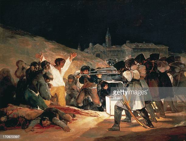 Francisco de Goya Spanish romantic painter The Third of May 1808 Oil on Canvas 1814 Spanish resisters being executed by Napoleon's troops during the...